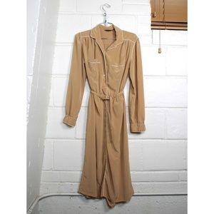Vintage Lanvin long sleeve button up dress